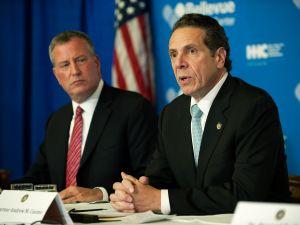 New York City Mayor Bill de Blasio and New York Governor Andrew Cuomo.
