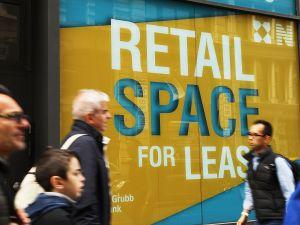 An empty retail space in lower Manhattan.
