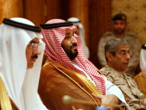 Saudi Arabia Crown Prince Mohammed bin Salman (2nd L).