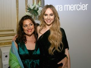 Laura Mercier with Suki Waterhouse, the face of her eponymous cosmetics line.