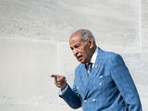 UNITED STATES - NOVEMBER 3: Rep. John Conyers, D-Mich., walks down the House steps after voting in the Capitol on Friday, Nov. 3, 2017. ()