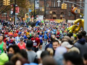 About 50,000 people participated in yesterday's race, but this is only a small fraction of those who wanted to run.