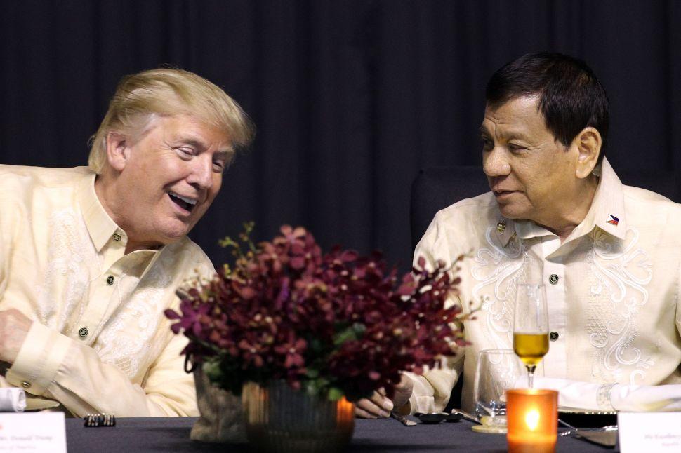 Trump Gets Chummy With Filipino Strongman