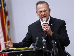 Republican candidate for U.S. Senate Judge Roy Moore on November 14, 2017 in Jackson, Alabama.