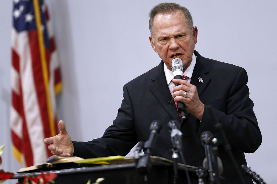 Roy Moore Would Lose if He Sued the Washington Post