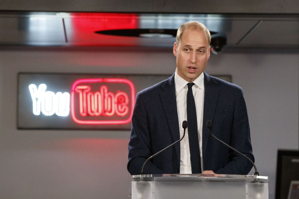 Prince William and YouTube Are Taking a Stand Against Cyberbullying