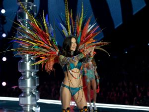 Adriana Lima walks the runway during the 2017 Victoria's Secret Fashion Show in Shanghai.