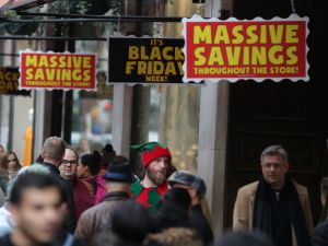 Shoppers lined up for Black Friday savings, and the deals continue on Cyber Monday