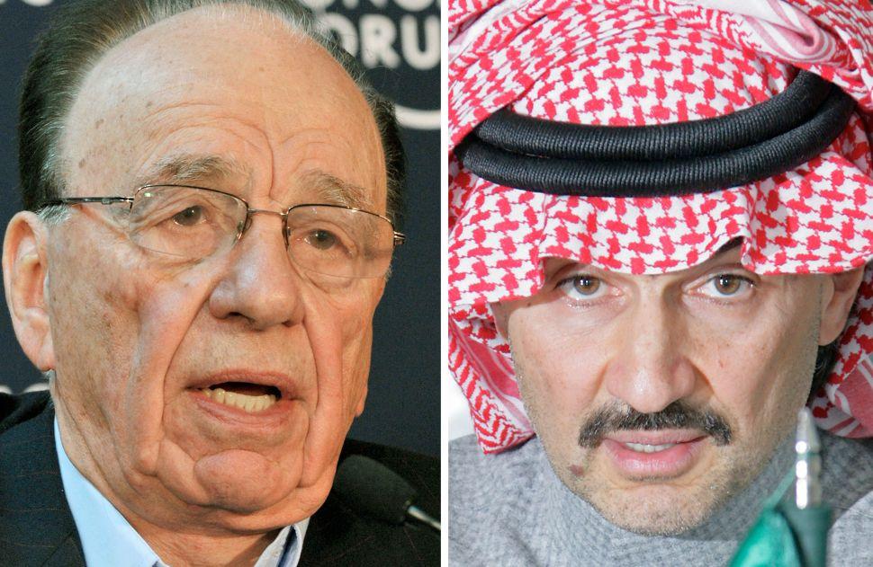 Longtime Murdoch Ally, Saudi Prince Dumps $1.5B Worth of Fox Shares