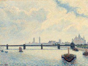 Camille Pissarro, Charing Cross Bridge, London, 1890. Oil on canvas.