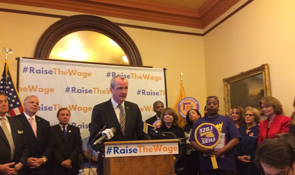 Murphy, NJ Democrats Promise $15 Minimum Wage