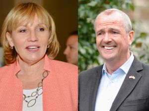 Kim Guadagno and Phil Murphy.