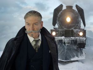 Kenneth Branagh in Murder on the Orient Express.