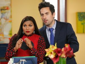 Mindy Kaling and Ed Weeks in season six of The Mindy Project.