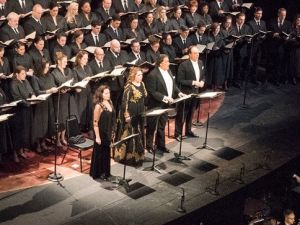 The massed forces of the Metropolitan Opera