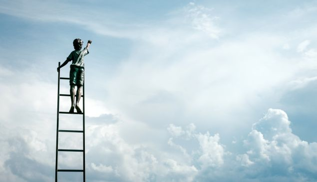 The industrialist required us to believe in climbing the career ladder.