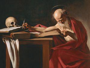 """""""San Girolamo,"""" Caravaggio."""