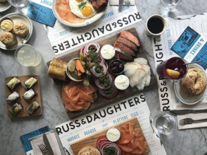 New Yorkers really like tweeting about Russ & Daughters Café.
