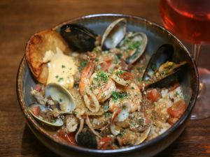 Mark Peel's quick-service menu includes Seattle fish stew.