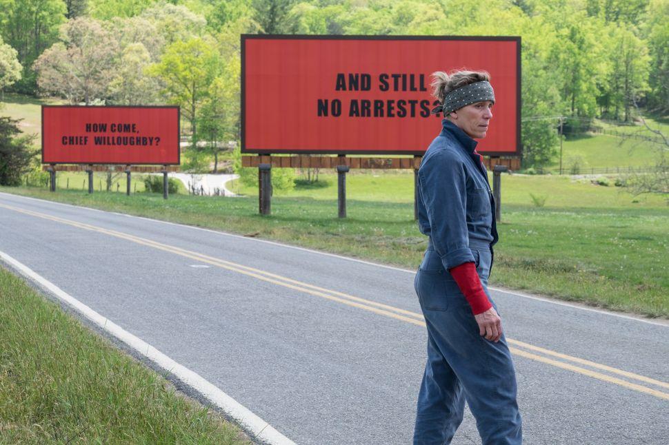 'Three Billboards' Is a Wannabe Coen Brothers Bag of Dumb Jokes