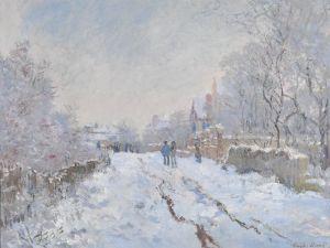 Claude Monet, Snow Scene at Argenteuil, 1875.