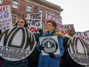 NOW-NYC held a protest outside of the 94th Precinct to call for all rapes to be taken seriously and to issue a series of demands to the NYPD.