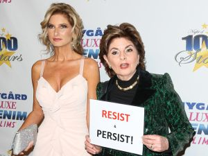 "Donald Trump Accuser Summer Zervos, left, and lawyer Gloria Allred, right, attend the 27th annual ""Night Of 100 Stars"" black tie dinner viewing gala in Palisades, Calif. in February."