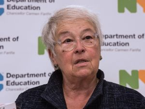 New York City Schools Chancellor Carmen Fariña is retiring next year.