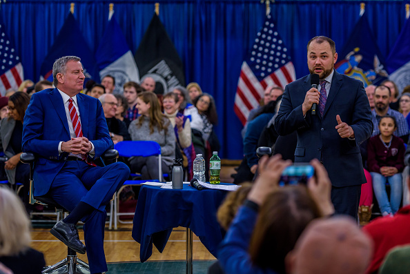 Bill de Blasio Backs Corey Johnson for New York City Council Speaker