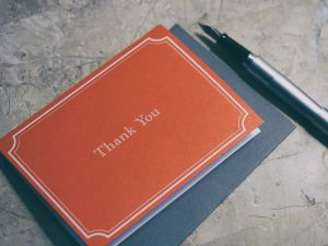 Don't forget to send out thank you cards this holiday season.