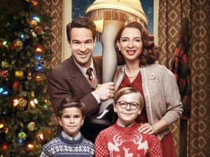 Chris Diamantopoulos, Maya Rudolph, Andy Walken and Tyler Wladis in Fox's live musical event, A Christmas Story Life!, airing Sunday, Dec. 17.