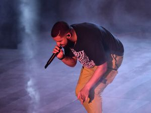 Drake performs at the American Express Platinum House.