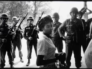 Bruce Davidson, Time of Change (Freedom Riders), 1961. Gelatin silver print. 8 3/4 x 12 3/4 in.
