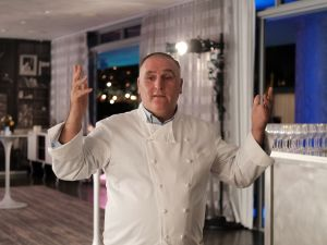 Chef José Andrés at Food Meets Art, held during Art Basel Miami Beach.