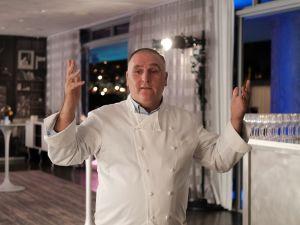 Chef José Andrés at Food Meets Art, held during Art Basel Miami Beach.