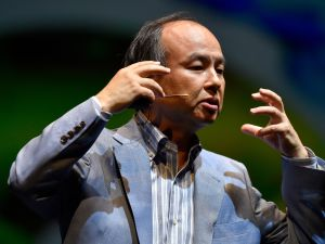 "Masayoshi Son named his company SoftBank to illustrate the idea of ""a bank of software."""