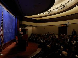 Former Speaker of the House Newt Gingrich at the Heritage Foundation.