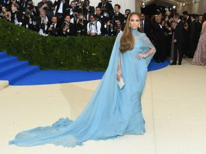 Jennifer Lopez in Valentino at The Met Gala.
