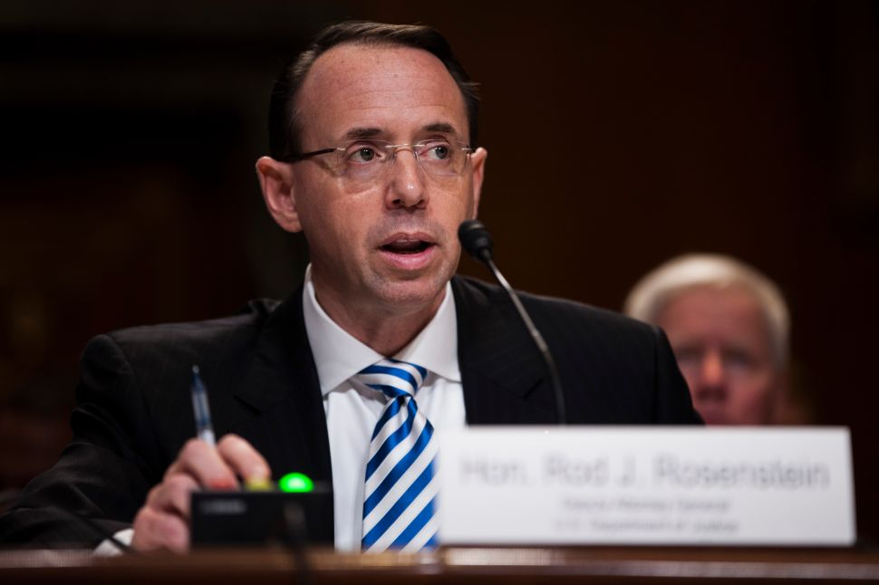 In Light of Mueller Staffing Shakeup, Rod Rosenstein Will Testify Before the House