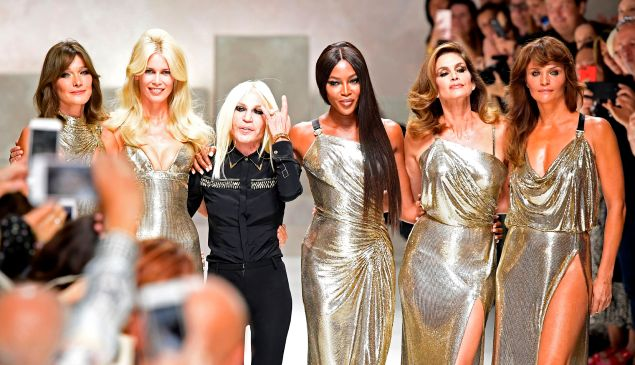 Versace may have had the biggest fashion story of 2017.