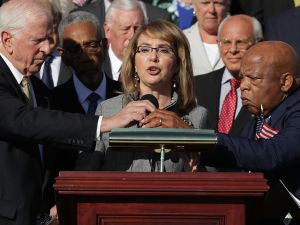 Congresswoman and gun violence victim Gabby Giffords.