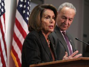 Senate Minority Leader Sen. Chuck Schumer (D-NY) and House Minority Leader Rep. Nancy Pelosi (D-CA).
