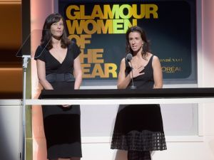 Megan Twohey and Jodi Kantor at the Glamour Women of the Year Awards.