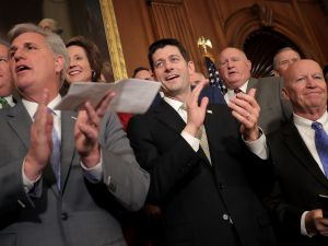 House Majority Leader Kevin McCarthy (R-CA), Speaker of the House Paul Ryan (R-WI) and House Ways and Means Committee Chairman Kevin Brady (R-TX).