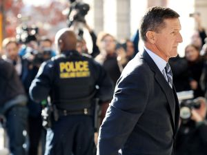 Michael Flynn, former national security advisor to President Donald Trump, arrives for his plea hearing at the Prettyman Federal Courthouse on December 1, 2017.