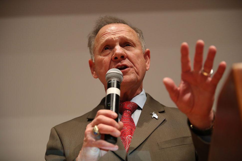 Roy Moore Sues to Block Alabama Senate Election Results