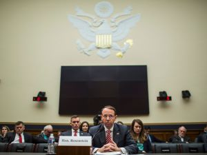 Deputy Attorney General Rod Rosenstein testifies during a a House Judiciary Committee hearing.