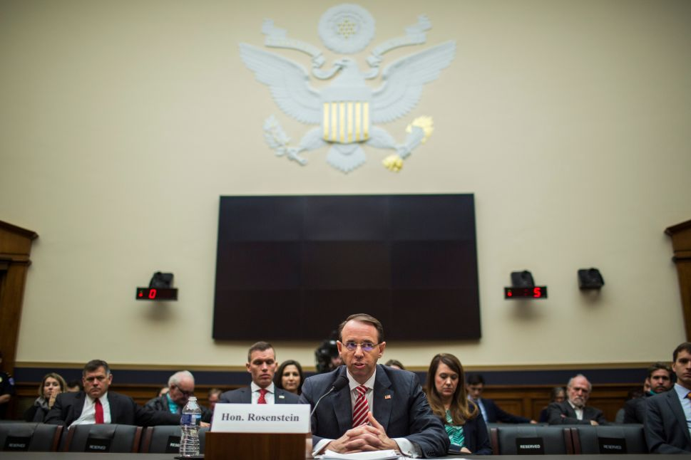 House Republicans Grill Rod Rosenstein Over Alleged Russia Probe Bias