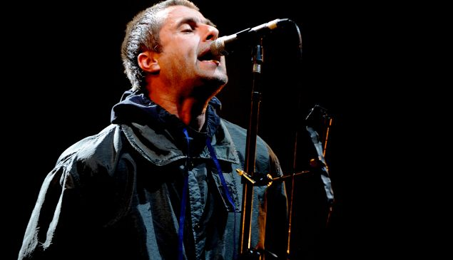 MANCHESTER, ENGLAND - DECEMBER 16: Liam Gallagher performs a homecoming show at Manchester Arena on December 16, 2017 in Manchester, England. (Photo by )