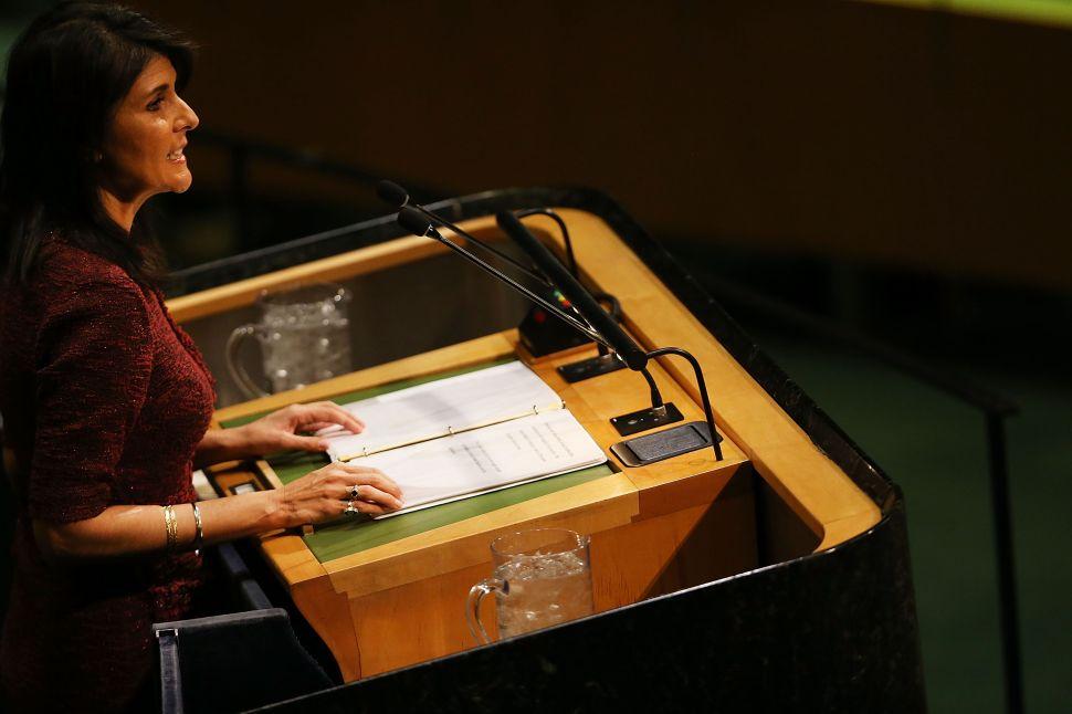 Nikki Haley Announces Massive UN Budget Cut After Jerusalem Vote